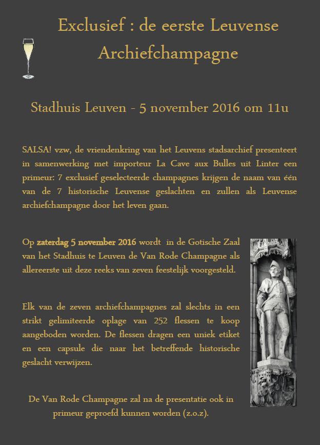 """Exclusief event : """"De 7 Geslachten van Leuven"""""""